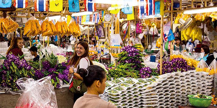 Pak Klong Talad Blumenmarkt Bangkok