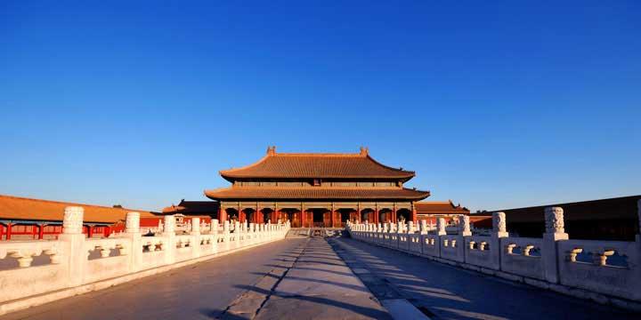 Stadtblick Pekings - die Verbotene Stadt