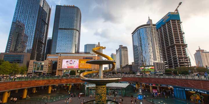 Stadtblick Chengdus