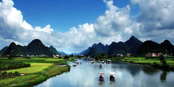 Li-Fluss-Ausflugsschiff