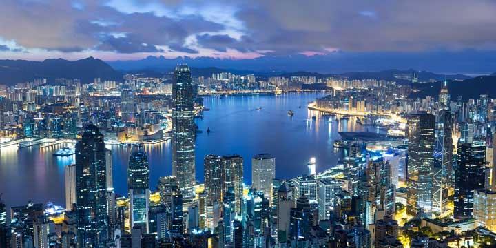 Stadtblick von Hong Kong