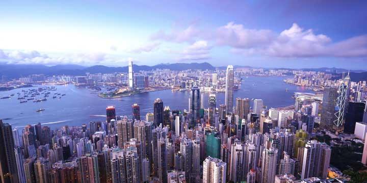 Stadtblick Hongkongs