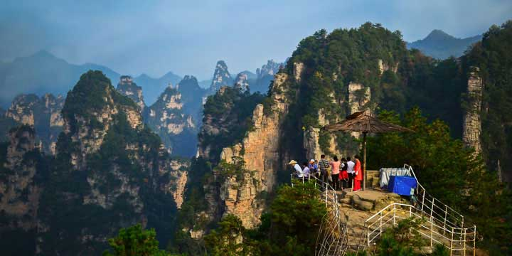 der Nationale Waldpark bei Zhangjiajie