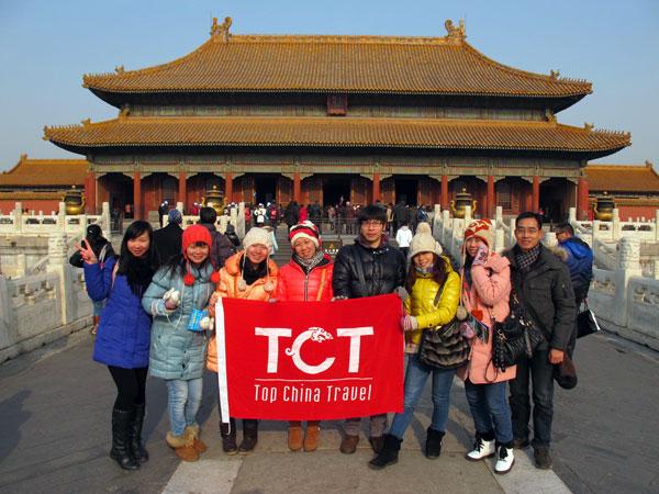 Das TopChinaTravel Team war 2013 in der Verbotenen Stadt.