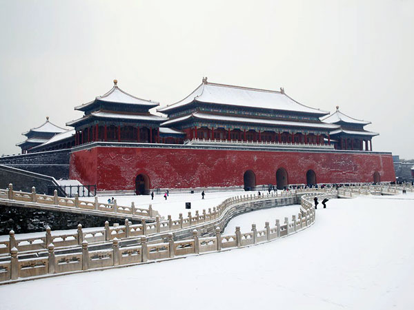 Die Verbotene Stadt im Winter