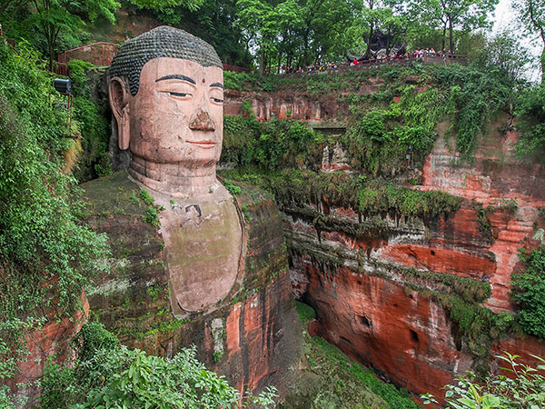 der Große Buddha in Leshan